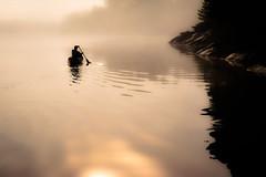 Riley Lake (kpanderson878) Tags: ontario canada sunrise kayak foggy paddle canoe leisure lke