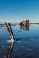 2016-01-10 - Peter Iredale Shipwreck-57 (www.bazpics.com) Tags: ocean sea usa beach water oregon america skeleton sand ship pacific or wave peter shipwreck frame hull wreck iredale