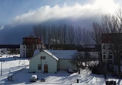 Balcony view (Dencku) Tags: street cloud sunlight snow building clouds suomi finland spring sunny gata talo snö buildingsite apartmentbuilding hus masala lunta vår kevät katu kirkkonummi kerrostalo höghus kyrkslätt masaby