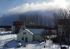 Balcony view (Dencku) Tags: street cloud sunlight snow building clouds suomi finland spring sunny gata talo sn buildingsite apartmentbuilding hus masala lunta vr kevt katu kirkkonummi kerrostalo hghus kyrksltt masaby