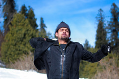 Snow Fight (Syed Hamza Hassan) Tags: travel family pakistan portrait snow tourism canon fun fight tour brother candid north kashmir beanies murree ayubia