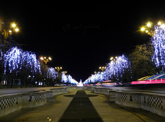 Christmas lights in Bucharest (cod_gabriel) Tags: winter night lights holidays christmaslights bucharest bucuresti bukarest noapte boekarest bucarest winterholidays bucureti bulevardulunirii bucareste uniriiavenue unificationavenue