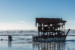 2016-01-10 - Peter Iredale Shipwreck-3 (www.bazpics.com) Tags: ocean sea usa beach water oregon america skeleton sand ship pacific or wave peter shipwreck frame hull wreck iredale