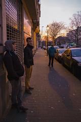 Corner Boys (SB Photographie) Tags: street city light brussels people color men boys night corner colorful fuji shadows belgium belgique bruxelles ombre lumiere fujifilm soir rue nuit couleur crepuscule ville gens xe1