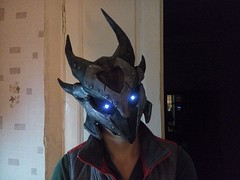 The Elder Scrolls V: Skyrim - Life Size Daedric Armor Helmet Ver.2 Free Papercraft Download (PapercraftSquare) Tags: cosplay helmet lifesize theelderscrolls skyrim theelderscrollsvskyrim daedricarmor