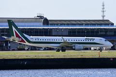 Alitalia ERJ190 ~ EI-RNC ( Freddie) Tags: london londoncityairport newham e16 lcy royaldocks eglc runway27