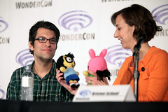 Dan Mintz & Kristen Schaal (Gage Skidmore) Tags: california dan swim john los adult angeles bob center burgers larry fox convention kristen roberts loren murphy bobs wondercon 2016 schaal bouchard mintz