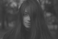 portraits (sbouboux) Tags: portrait bw woman white black square eyes dof corfu kerkyra bianco nero bianconero spianada