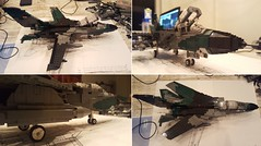 Panavia Tornado IDS - WIP 2 (Kenneth-V) Tags: cold scale collage plane work germany airplane model marine war fighter lego aircraft aviation military air navy wing progress indoor wip swing german planes airforce tornado ecr deutsch 136 ids moc in panavia attacker marineflieger
