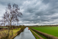 20160326_Angry Clouds over Knowle (Damien Walmsley) Tags: tree water clouds canal locks towpath knowle