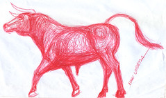 toro a lapicero (ivanutrera) Tags: animal pen sketch drawing bull draw dibujo lapicero boligrafo dibujoalapicero toroenlapicero dibujoenboligrafo