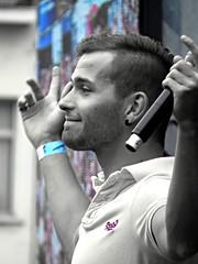 singer in a boyband (gerben more) Tags: musician music man singer gaypride youngman antwerpen stubbles handsomeman