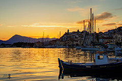 A view of Poros at golden hour (theseustroizinian) Tags: trip sunset sea vacation seascape beauty port canon landscape island seaside gulf ngc hellas greece hdr saronic poros hellenic goldenhours seasunandclouds canoneos700d simplysuperb
