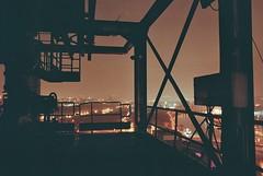 Mile High (J4M35_UK) Tags: urban abandoned industry film night canon dark eos climb iron europe industrial factory belgium steel works disused analogue furnace exploration derelict blast ironworks steelworks urbex hfb 1n