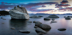 Bonsai Rock Panorama (Beau Rogers) Tags: mountains clouds landscape interesting scenery nevada scenic tahoe laketahoe sierranevada americanwest bonsairock