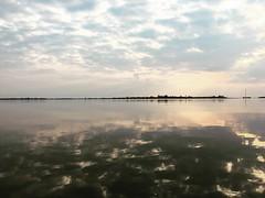 #Lauwersmeer #mirrorlake #sunset #groningen