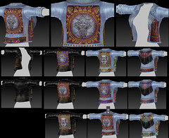 Foxes Uber texture wip (Dani @ Birdy/Foxes/Alchemy) Tags: texture leather fashion festival mural wip sl event jacket secondlife denim boho foxes uber zbrush