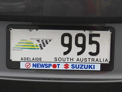 Australian F1 Grand Prix Number Plate (RS 1990) Tags: australian f1 special licenseplate grandprix adelaide formula1 southaustralia numberplate 995