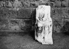 Fragments of Empire, Garbatella, Rome (Robert Barone) Tags: blackandwhite italy rome roma blackwhite italia noiretblanc commute biancoenero romans ancientrome romani garbatella blancoynero micro43 olympusep5