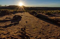 Sunset near Page, Utah (Igor Sorokin) Tags: travel sunset usa southwest backlight landscape utah us sand nikon industrial offroad footprints wash page nikkor dslr 18300 d7000