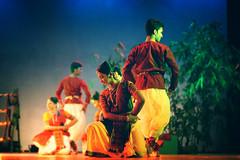 Dancing Duo (qrstanvir) Tags: colors dance soft indian classical dhaka saree depth bangladesh punjabi nritto shilpakola padaboli