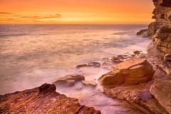 Golden Coastline    BRONTE    SYDNEY (rhyspope) Tags: ocean new sea sky cliff cloud pope wales sunrise canon golden marine south sydney australia nsw 5d aussie rhys bronte mkii rhyspope