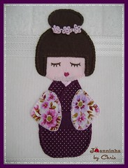 Imagem 063 (Joanninha by Chris) Tags: baby handmade artesanato beb kokeshi bordado feitoamo toalhafralda toalhadebanho enxovalmenina enxovalbeb aplicaodetecidos