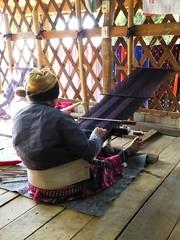 Doi Inthanon NP, Thailand (Jan-2016) 10-006 (MistyTree Adventures) Tags: woman thailand asia seasia indoor karen weaving loom hilltribe doiinthanon panasoniclumix karenhilltribe doiinthanonnationalpark hilltribevillage