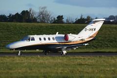 D-IHKW.EDI160416 (MarkP51) Tags: plane airplane scotland airport nikon edinburgh image aircraft aviation edi cessna citationjet bizjet 525a egph cj1 corporatejet d7100 dihkw markp51