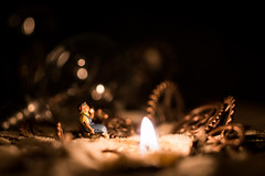 Bonfire in the ruins of civilization. Color. Different angle. (thewhiteshadow009) Tags: people macro night dark fire sand punk candle desert little sony small steam gears a7 steampunk a a7r a7rii a7r2