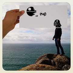 Darth Vader (JL) Tags: sea sky clouds death star mar starwars hand cloudy cielo darth nubes mano nublado wars vader darthvader deathstar