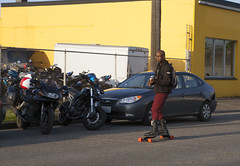 SkateToLive (B Shree B) Tags: seattle sunset cafe motorcycle ballard racers backfire