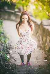 Lily (hispan.hun) Tags: red portrait woman cute nature girl smile stairs forest canon vintage spring stair hungary sony hill budapest longhair fullframe redhair a7 gellrt canonfd sonyphotography sonya7 hispansphotoblog