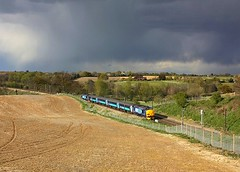 Storm Clouds over Brantham (Chris Baines) Tags: charity suffolk railtour each drs 37405 37419 brantham