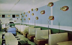 Angler's Cafe, Mt. Home, Arkansas (SwellMap) Tags: architecture vintage advertising restaurant design pc cafe 60s fifties postcard suburbia style diner kitsch retro truckstop nostalgia chrome americana 50s roadside cafeteria googie populuxe sixties babyboomer consumer coldwar snackbar eatery midcentury spaceage driveinrestaurant atomicage