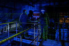 EMD #262 - In the factory (Electrical Movements in the Dark) Tags: longexposure lightpainting lightart emd lapp lightartperformancephotography electricalmovementsinthedark