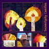 Serendipity candles (Lizinnie) Tags: light licht candle quilt patchwork wonky kerzen impro improvisational liberated bowleggedcurvybees