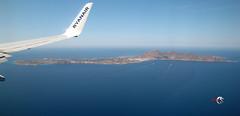 Flying: Trapani - Favignana island - Italy (claudios53) Tags: italy island mare aerialview sicily aereo paesaggio trapani favignana aerea vistaaerea volare