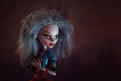 Nocturne in blue and red (Allan Saw) Tags: portrait toy doll mh monsterhigh ghouliayelps
