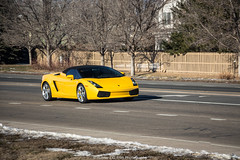 Outdated (Hunter J. G. Frim Photography) Tags: yellow italian colorado convertible 2006 spyder lamborghini supercar v10 gallardo lamborghinigallardo lamborghinigallardospyder lp5504