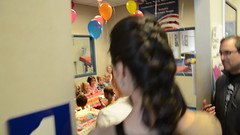 Happy Birthday To Abigail (Joe Shlabotnik) Tags: birthday cake video lily singing violet happybirthday madeleine anastasia everett sarahp faved 2015 nikond7000 abigailj april2015