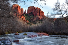 Cathedral Rock (steve.tocci) Tags: sunset arizona stream sedona redrocks cathedralrock