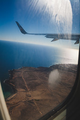 Rising | Trip to Fuerteventura (Gražvydas L.) Tags: from uk trip travel winter sea window canon airplane rising islands december fuerteventura wing canary 2015 1000d