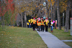 Run For the Cure Volunteers (pokoroto) Tags: autumn people canada calgary for october volunteers run alberta cure 10 2015     kannazuki   themonthwhentherearenogods 27