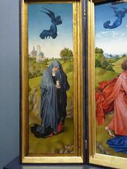 Van der Weyden, Crucifixion Triptych (left panel)
