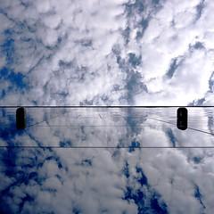 sky (Darek Drapala) Tags: city light sky urban sun reflection building architecture buildings lumix mirror poland polska panasonic warsaw warszawa skyskape panasonicg5