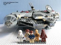 Star Wars LEGO 4504 Millennium Falcon (KatanaZ) Tags: starwars lego princessleia chewbacca c3po hansolo millenniumfalcon snowtrooper minifigures lego4504