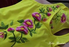 KikaBordados Kika  Krauss 063 (Kika Bordados by Angelica Krauss) Tags: pink flowers flores handmade embroidery laranja crochet tshirt amarelo bordados manualidades croche embroider feitomo camisetabordada camisetabordadamo bordadosfeitomo kikabordadoskikakrauss