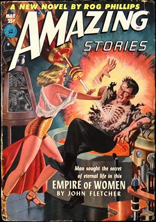 Amazing Stories Vol. 26, No. 5 (May, 1952).  Cover Art by Lawrence