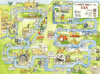 map of West End of the K&A